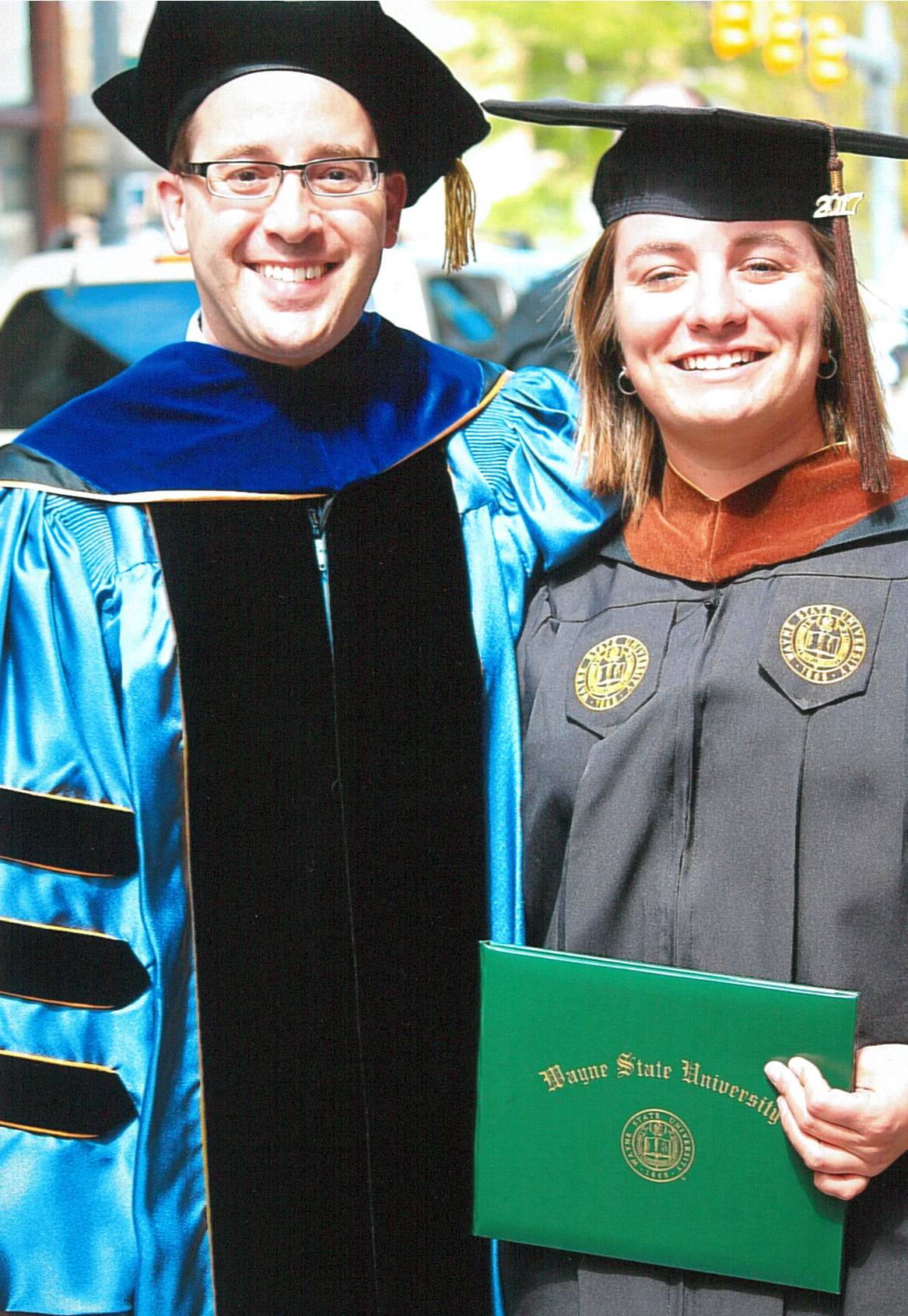 Jordan Clark, right, with Associate Professor Joshua S. Duchan
